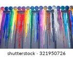 many colours splash dripping... | Shutterstock . vector #321950726