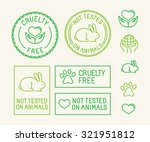 vector set of ecology badges... | Shutterstock .eps vector #321951812