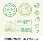 vector set of ecology badges... | Shutterstock .eps vector #321951812