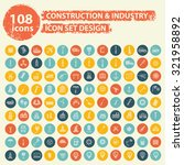 108 construction and industry... | Shutterstock .eps vector #321958892
