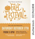 fun fall festival invitation... | Shutterstock .eps vector #321961808
