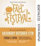 fun fall festival invitation... | Shutterstock .eps vector #321961808