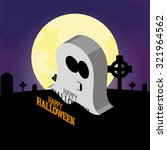 isolated halloween icon on a... | Shutterstock .eps vector #321964562