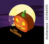 isolated halloween icon on a... | Shutterstock .eps vector #321964592