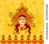 vector design of goddess durga... | Shutterstock .eps vector #321965168