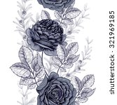 floral illustration with roses. ... | Shutterstock .eps vector #321969185
