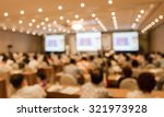 blurred image of people in hall ... | Shutterstock . vector #321973928