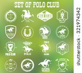 set of vintage horse polo club... | Shutterstock . vector #321974342