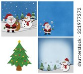 collection of christmas... | Shutterstock . vector #321977372