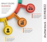 3 steps vector business... | Shutterstock .eps vector #321983822