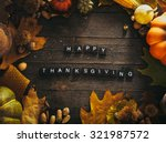 thanksgiving background. autumn ... | Shutterstock . vector #321987572