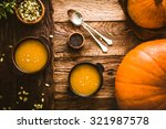 thanksgiving dinner. pumpkin... | Shutterstock . vector #321987578