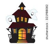 haunted house vector... | Shutterstock .eps vector #321988082