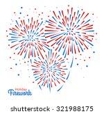 vector holiday firework | Shutterstock .eps vector #321988175