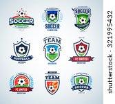 soccer logo templates set.... | Shutterstock .eps vector #321995432