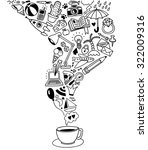 hand drawn doodles set | Shutterstock .eps vector #322009316