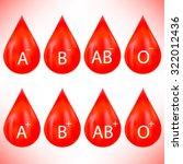 vector set of red drops... | Shutterstock .eps vector #322012436