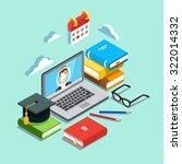 online education concept.... | Shutterstock .eps vector #322014332