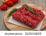 Raw Minced Beef Meat With Green ...