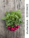 bunch of fresh radishes on... | Shutterstock . vector #322018622