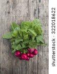 bunch of fresh radishes on... | Shutterstock . vector #322018622