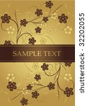 golden and chocolate frame for... | Shutterstock .eps vector #32202055