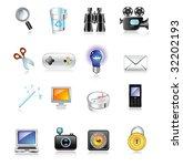 web icon set | Shutterstock .eps vector #32202193