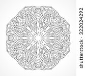 mandala. ethnic decorative... | Shutterstock .eps vector #322024292