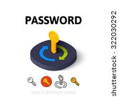 password icon  vector symbol in ...
