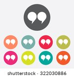 quote sign icon set  quotation... | Shutterstock .eps vector #322030886