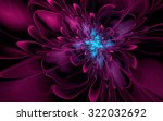 Abstract Fractal  Purple Cyan...