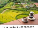 drip black coffee vietnamese... | Shutterstock . vector #322033226