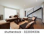 interior design  big modern... | Shutterstock . vector #322034336