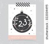 printable christmas advent...   Shutterstock .eps vector #322034495
