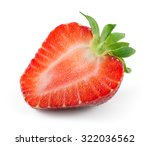 half of strawberry isolated on... | Shutterstock . vector #322036562