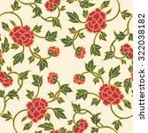asian seamless floral pattern   Shutterstock .eps vector #322038182