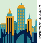 buildings city  architectural... | Shutterstock .eps vector #322039325