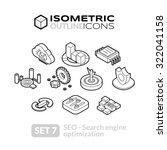 isometric outline icons  3d... | Shutterstock .eps vector #322041158