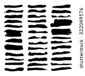 large set of thick black paint... | Shutterstock .eps vector #322049576
