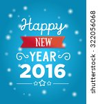 happy new year 2016. poster.... | Shutterstock .eps vector #322056068