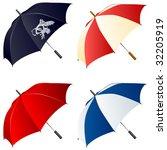 Vector umbrellas.