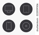 vector modern gadget icons set...