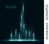 technology image of dubai. the... | Shutterstock .eps vector #322063922