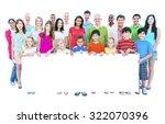 diverse people happiness... | Shutterstock . vector #322070396