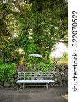 a bench in the olle trail no. 2 ... | Shutterstock . vector #322070522