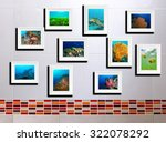 the collage photos on tile... | Shutterstock . vector #322078292