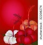 Red Hibiscus  White Hibiscus...
