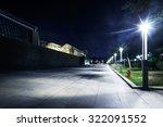 Night Scene Of Street And Park...