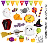 halloween cute items | Shutterstock .eps vector #322092842