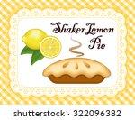 lemon pie  lace doily place mat ... | Shutterstock .eps vector #322096382